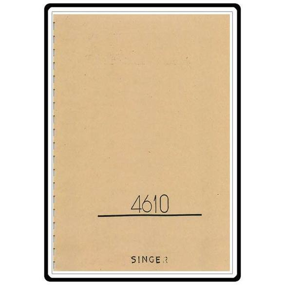 Instruction Manual, Singer 4610