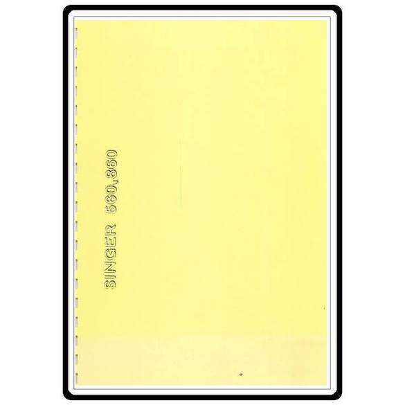 Instruction Manual, Singer 560