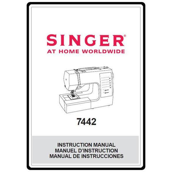 Instruction Manual, Singer 7442