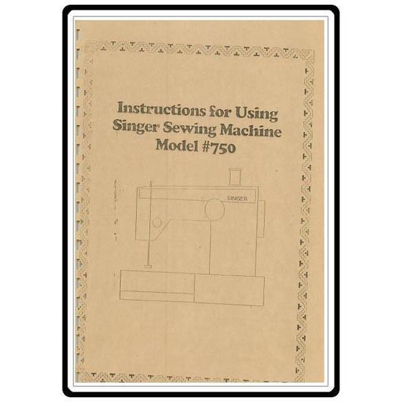 Instruction Manual, Singer 720