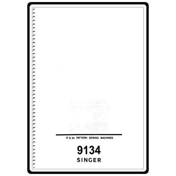 Instruction Manual, Singer 9134