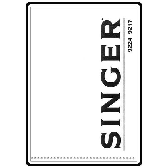 Instruction Manual, Singer 9217