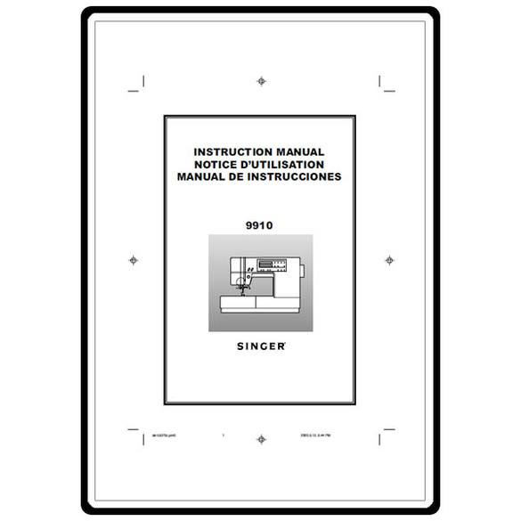 Instruction Manual, Singer 9910