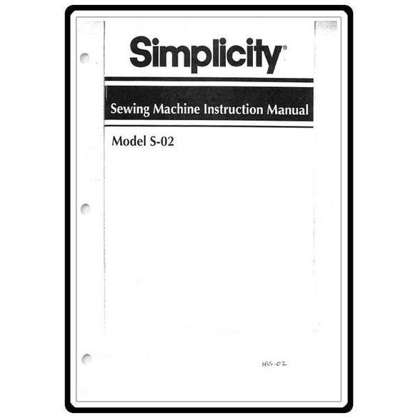 Instruction Manual, Simplicity S02