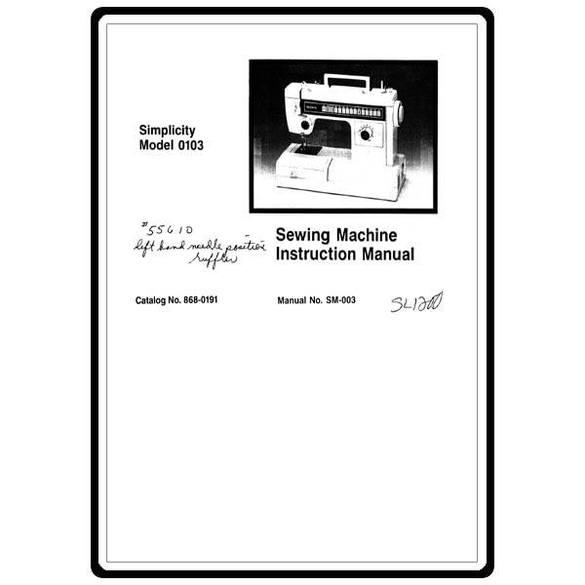 Instruction Manual, Simplicity SL1200