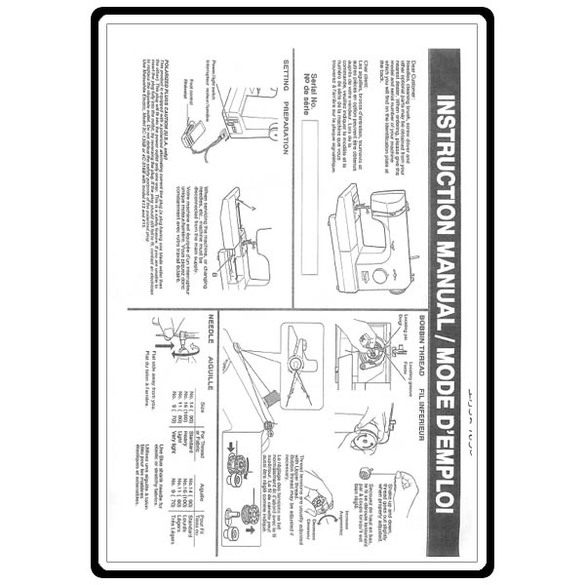 Instruction Manual, Simplicity SL1650