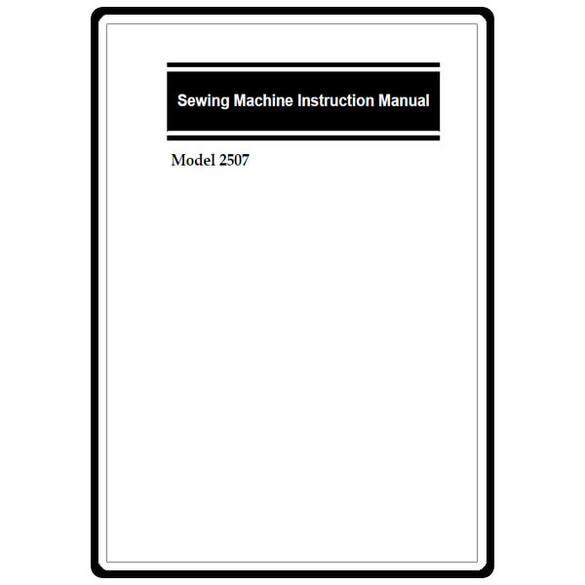 Instruction Manual, Simplicity SL2507