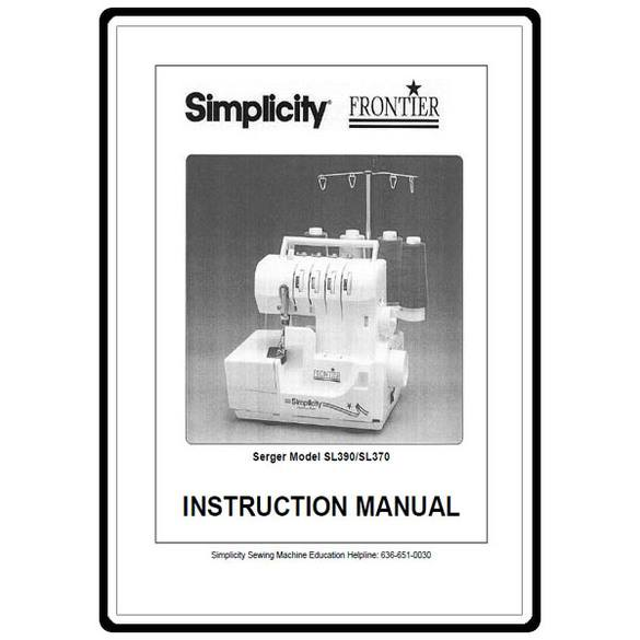 Instruction Manual, Simplicity SL390