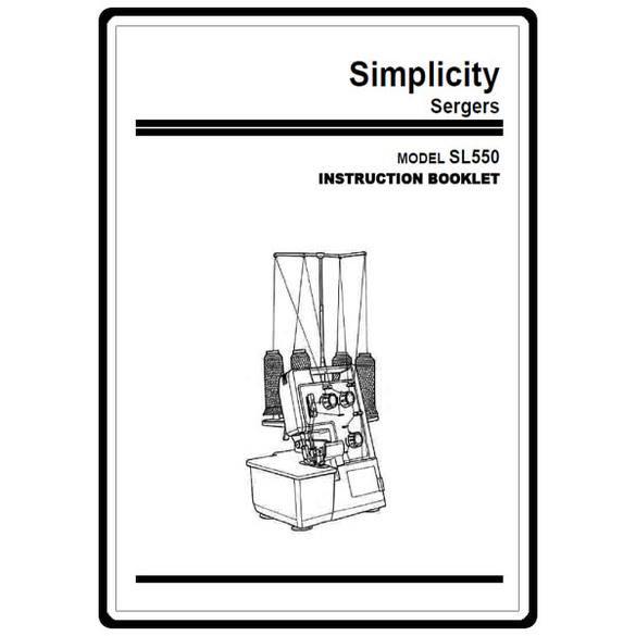 Instruction Manual, Simplicity SL550