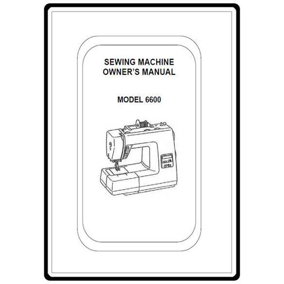 Instruction Manual, Simplicity SL6600