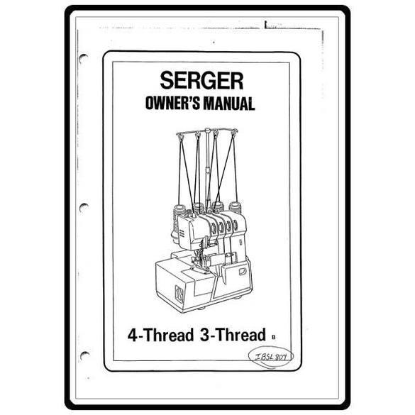 Instruction Manual, Simplicity SL804