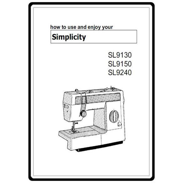 Instruction Manual, Simplicity SL9130