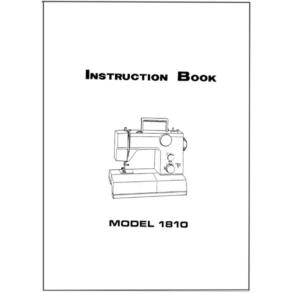Instruction Manual, White 1810