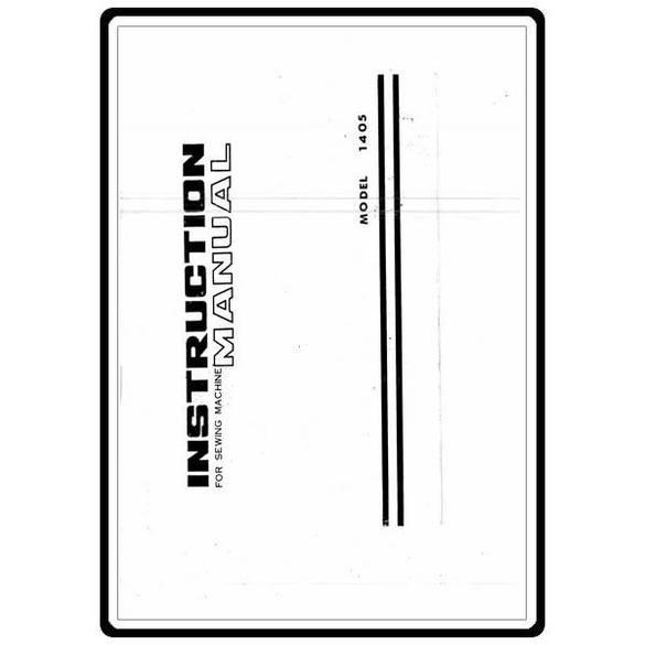 Instruction Manual, White 1405
