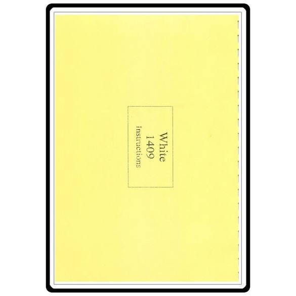 Instruction Manual, White 1409