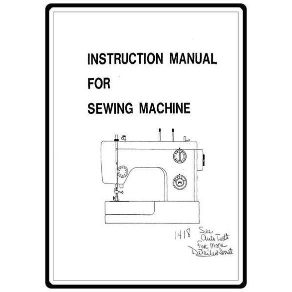 Instruction Manual, White 1418