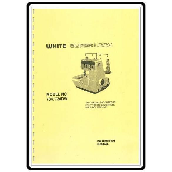 Instruction Manual, White 734DW