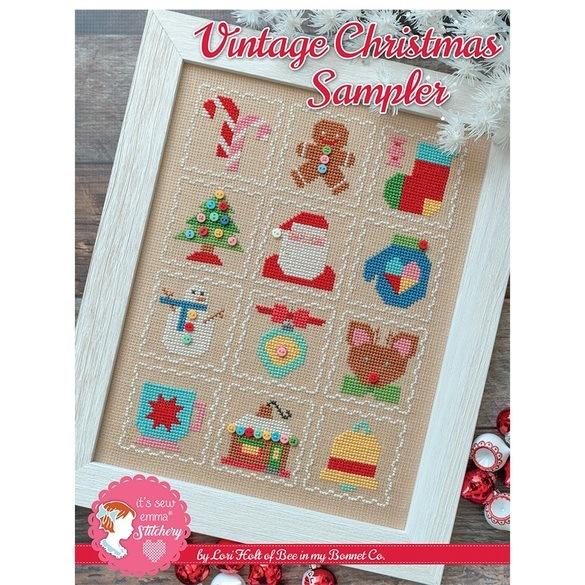 Vintage Christmas Sampler Cross Stitch Pattern