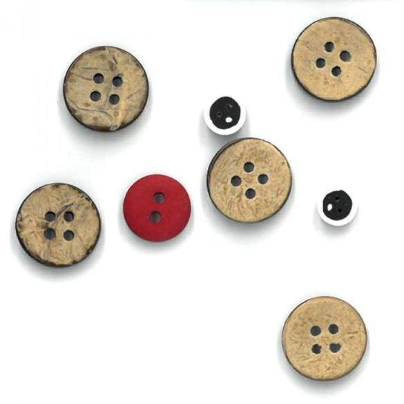 Button Pack for Monthly Wall Hanging Pattern December White Christmas