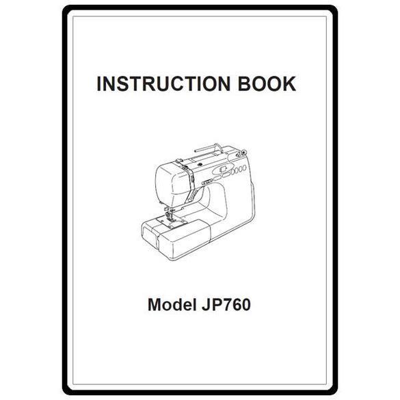 Instruction Manual, Janome JP720 Jem Platinum