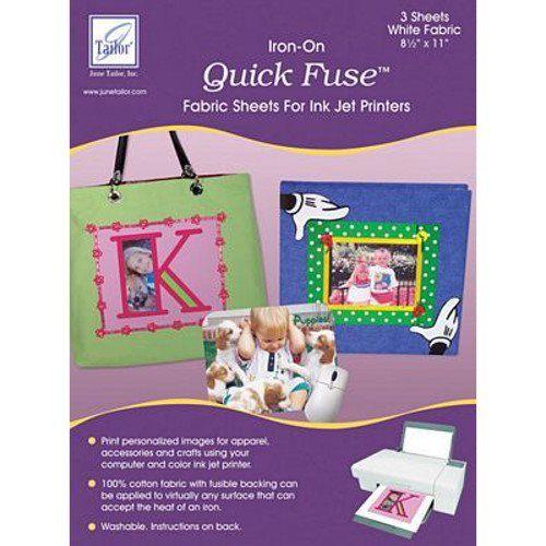 Quick Fuse Inkjet Printable Fabric 3pk, June Tailor