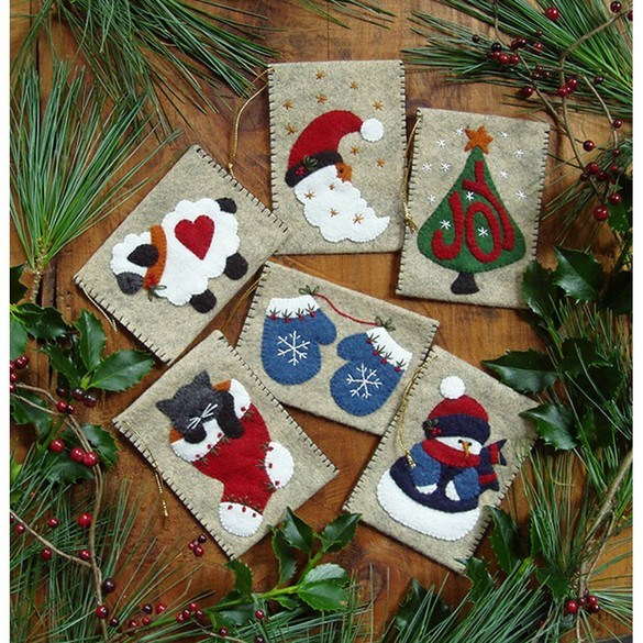 Gift Card Ornament Bag Kit - Makes 6 Gift Bags