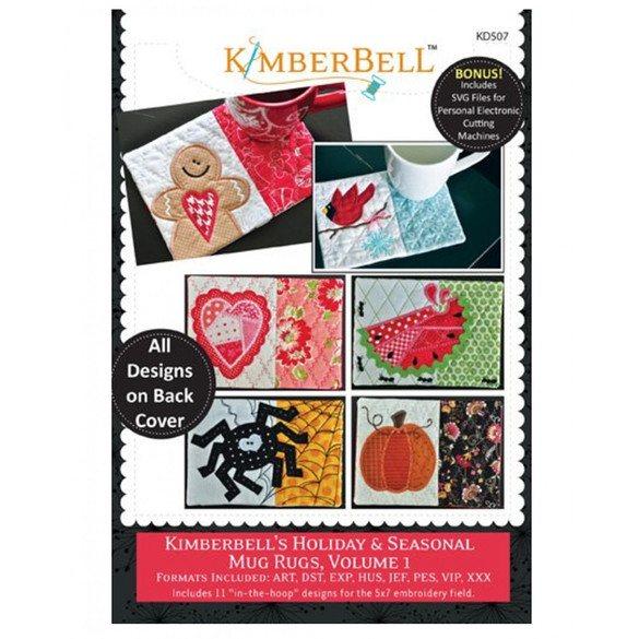 Holiday & Seasonal Mug Rugs, Embroidery CD