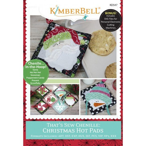 That's Sew Chenille Christmas Hot Pads Embroidery CD