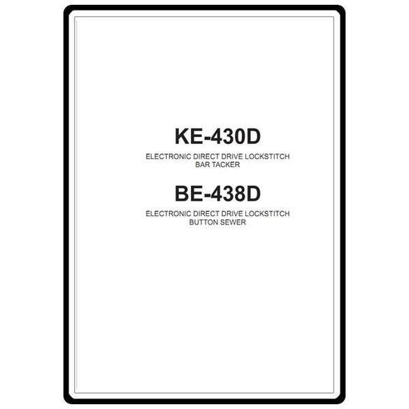 Instruction Manual, Brother KE-430D
