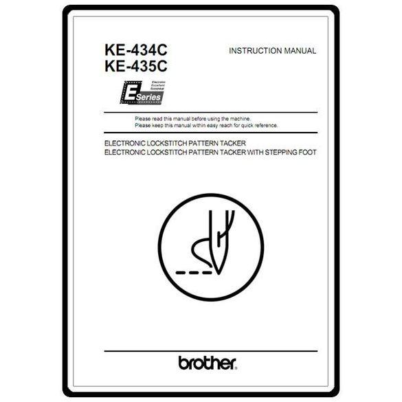 Instruction Manual, Brother KE-435C