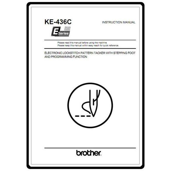 Instruction Manual, Brother KE-436C