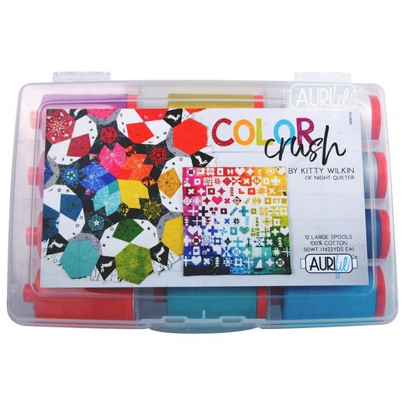 Aurifil Color Crush 50wt.Thread Collection, 12 Spools