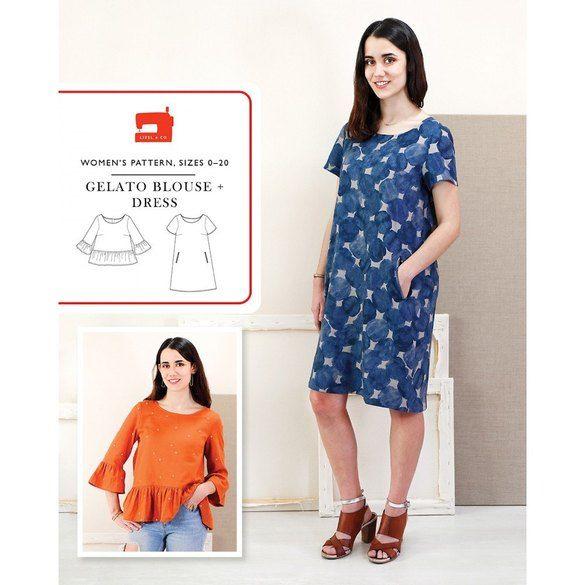 Gelato Blouse and Dress Pattern, Liesl & Co.