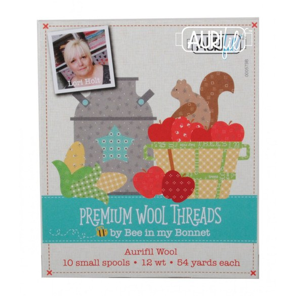 Aurifil 12wt, Premium Wool Thread Collection - 10 Spools (54yds)