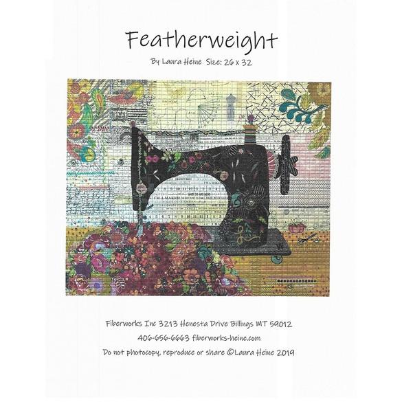 Featherweight Sewing Machine Collage Pattern