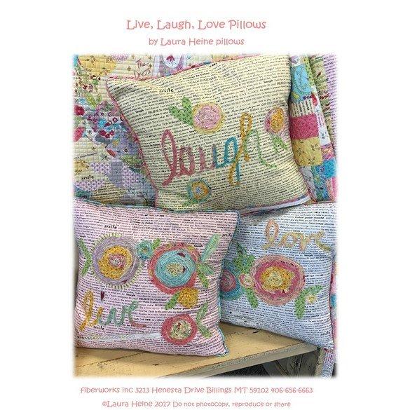 Live, Laugh, Love Pillows Pattern