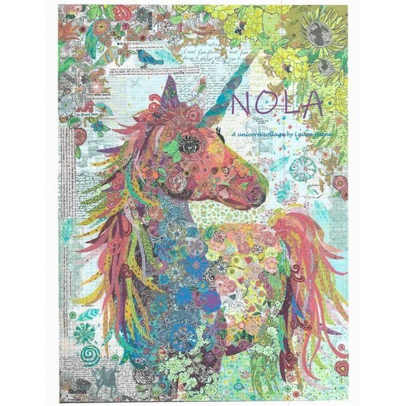 Nola: A Unicorn Collage Pattern