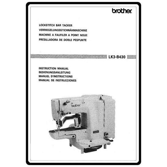 Instruction Manual, Brother Lockstitch LK3-B430
