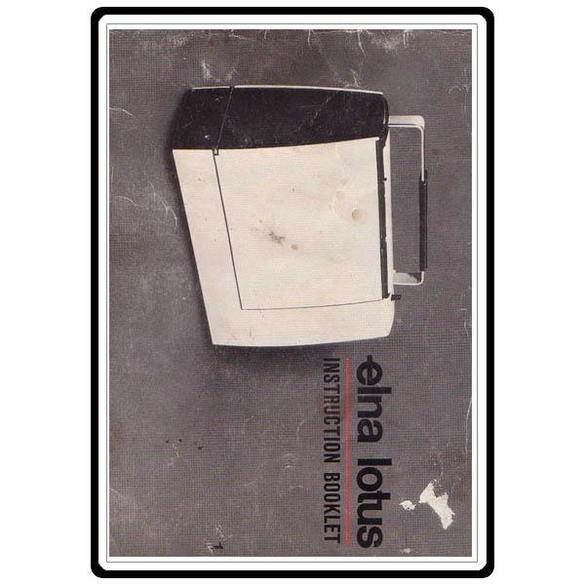Instruction Manual, Elna 15 Lotus Series