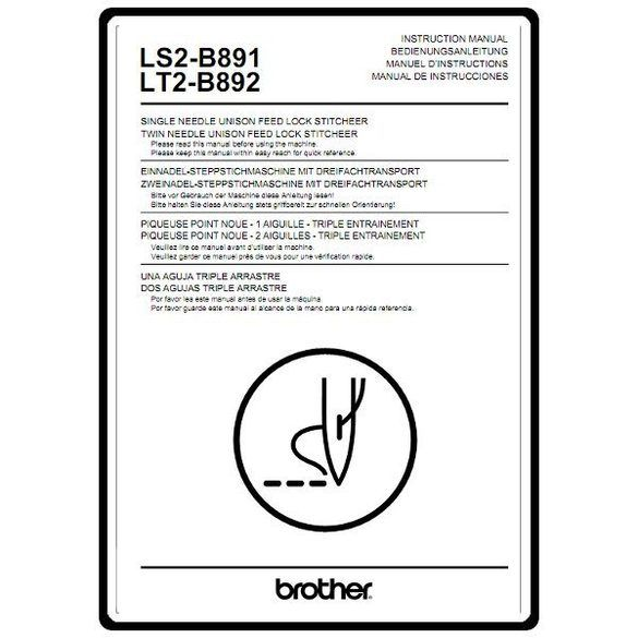 Instruction Manual, Brother LS2-B891