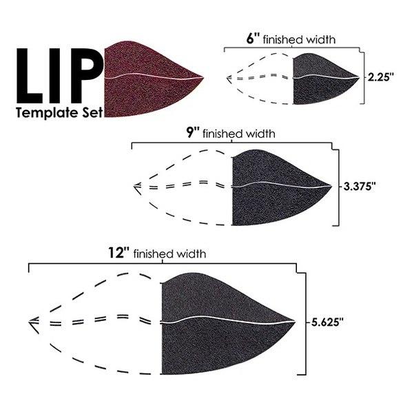 Lips Template Set (3pc), Martelli