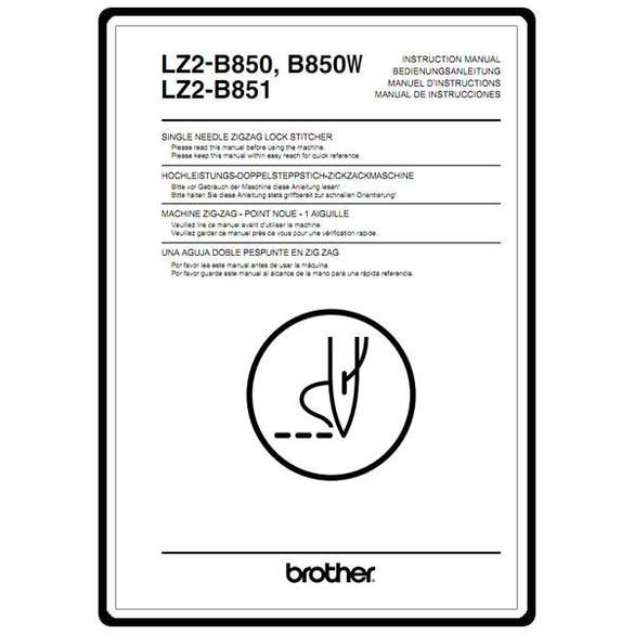 Instruction Manual, Brother LZ2-B850W