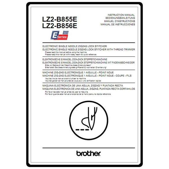 Instruction Manual, Brother LZ2-B856E