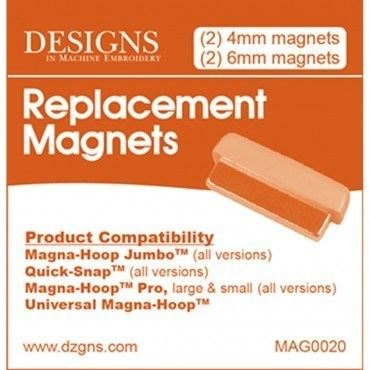 Replacement Magnets, Designs in Machine Embroidery