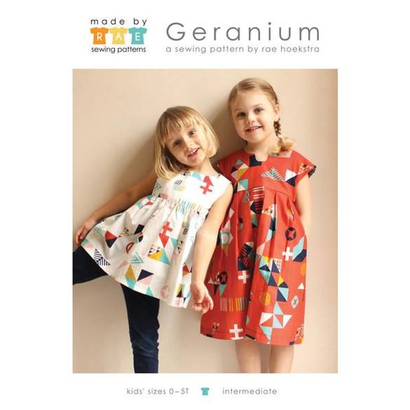 Made by Rae, Geranium Dress Pattern