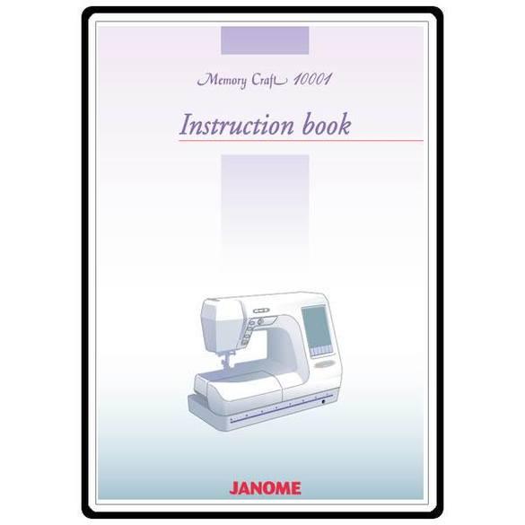 Instruction Manual, Janome MC10001