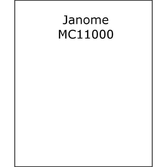Instruction Manual, Janome MC11000