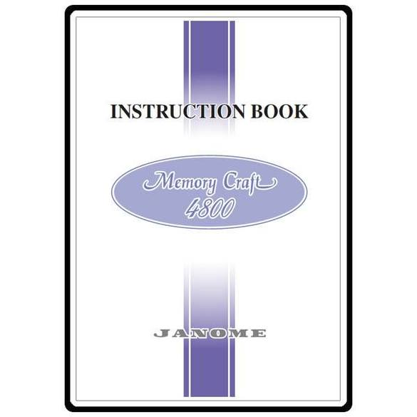 Instruction Manual, Janome MC4800