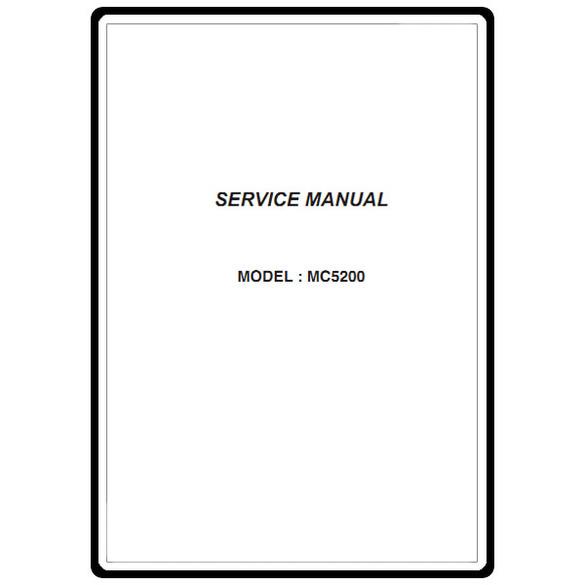 Service Manual, Janome MC5200