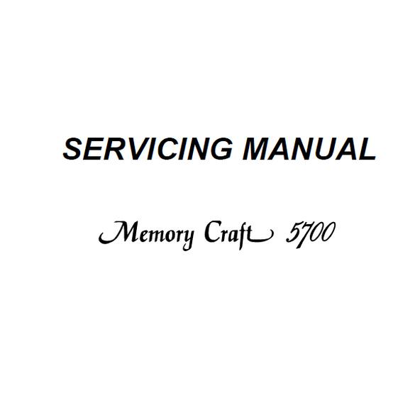 Service Manual, Janome MC5700